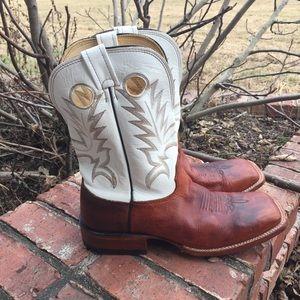 Larry Mahan Leather Cowboy Boots Western Sz 13D